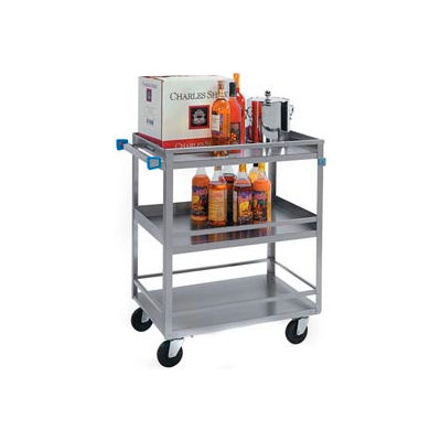 Lakeside® 526 Guard Rail Stainless Steel Utility Cart 31 x 19 x 33-3/4 500 Lb Cap