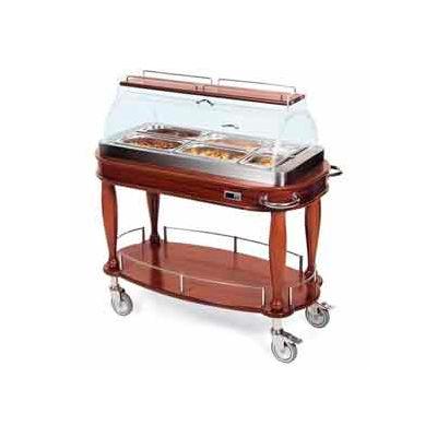 Geneva Lakeside Heated Appetizer Cart w/ Roll Top Dome & Top Shelf, 70180