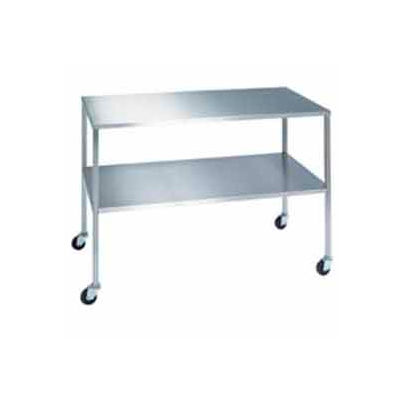 """Lakeside® 8355 Stainless Steel Instrument Table with Shelf -  - 33""""L x 16""""W x 34""""H"""