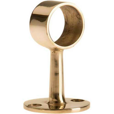 "Lavi Industries, Flush Center Post, for 1"" Tubing, Polished Brass"