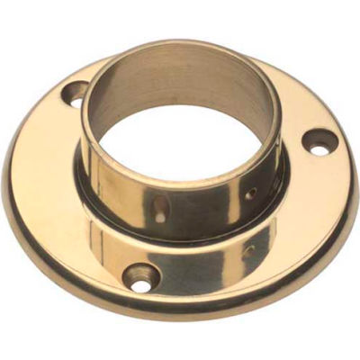 "Lavi Industries, Flange, Wall, for 2"" Tubing, Polished Brass"