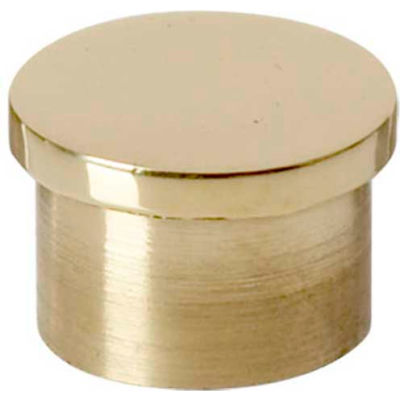 """Lavi Industries, End Cap, Flush, for 1"""" Tubing, Polished Brass"""