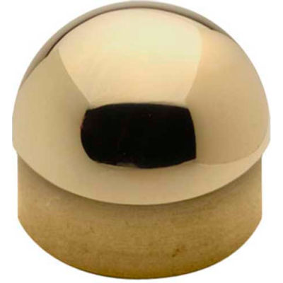"Lavi Industries, Half Ball End Cap, for 2"" Tubing, Polished Brass"