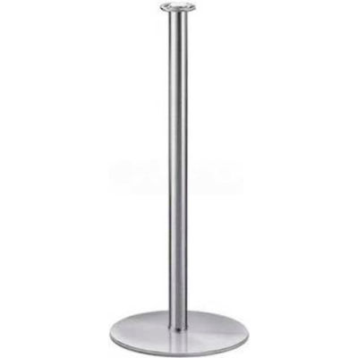 """Lavi Industries Tempo Portable Queueing Post, 35""""H Polished Stainless Steel Post"""