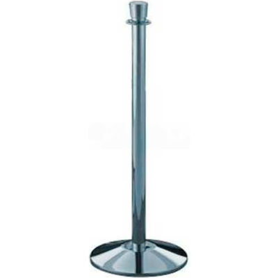 """Lavi Industries Director Queueing Stanchion, 38.5""""H Polished Stainless Steel Post"""