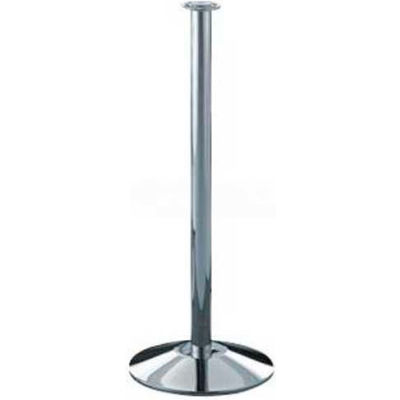 "Lavi Industries Concourse Portable Stanchion, 38""H Polished Stainless Steel Post"