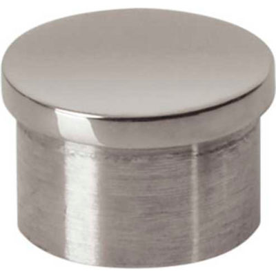 """Lavi Industries, End Cap, Flush, for 1"""" Tubing, Polished Stainless Steel"""