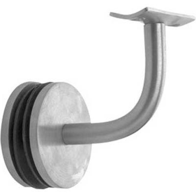 "Lavi Industries, Glass Mount Handrail, for 1.5"" Tubing, Satin Stainless Steel"