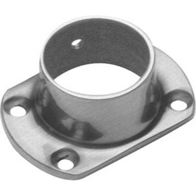"""Lavi Industries, Flange, Wall, Cut, for 1.5"""" Tubing, Satin Stainless Steel"""