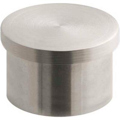 "Lavi Industries, End Cap, Flush, for 1"" Tubing, Satin Stainless Steel"