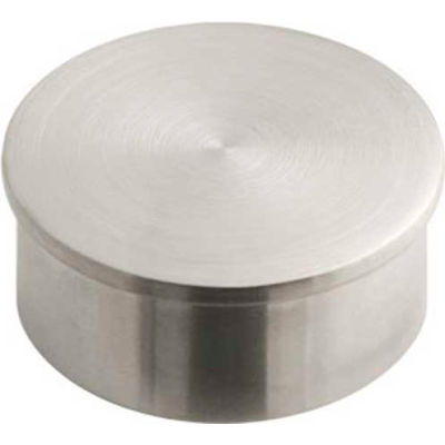 "Lavi Industries, End Cap, Flush, for 1.5"" Tubing, Satin Stainless Steel"