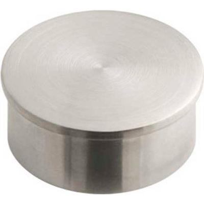 "Lavi Industries, End Cap, Flush, for 2"" Tubing, Satin Stainless Steel"