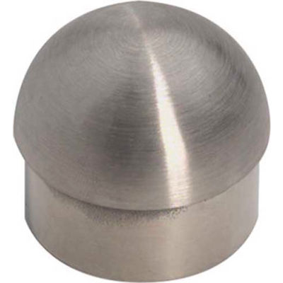 """Lavi Industries, Half Ball End Cap, for 1.5"""" Tubing, Satin Stainless Steel"""