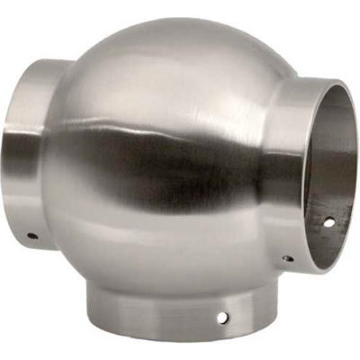 """Lavi Industries, Ball Tee, for 1.5"""" Tubing, Satin Stainless Steel"""
