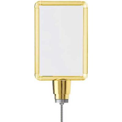 "Lavi Industries, Vertical Drum Top Post Sign Frame, 50-1130DV-S/GD, 7"" X 11"", Gold"