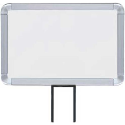 """Lavi Industries, Horizontal Fixed Sign Frame, 50-1130F12H-S/SA, 7"""" x 11"""", Unslotted, Satin"""