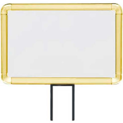 "Lavi Industries, Horizontal Fixed Sign Frame, 50-1130F7H/GD, 7"" x 11"", Unslotted, Gold"