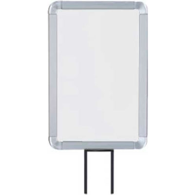 """Lavi Industries, Vertical Fixed Sign Frame, 50-1130F7V/SA, 7"""" x 11"""", For 7' Posts, Satin"""