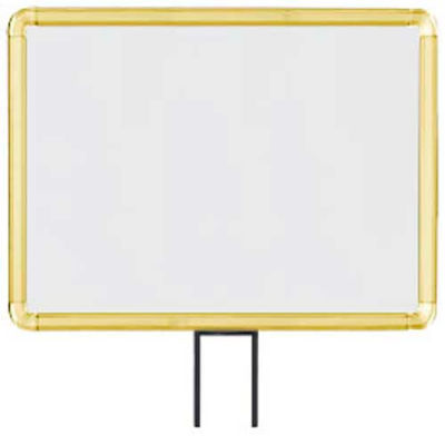 """Lavi Industries, Horizontal Fixed Sign Frame, 50-1131F12H-S/GD, 11"""" x 14"""", Slotted, Gold"""