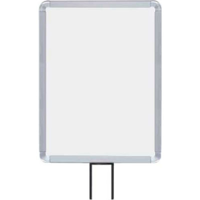 """Lavi Industries, Vertical Fixed Sign Frame, 50-1131F12V-S/SA, 11"""" x 14"""", For 13' Posts, Satin"""