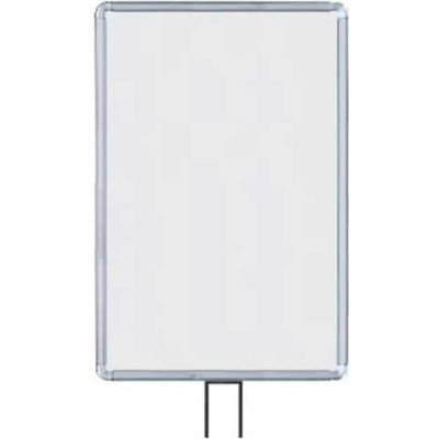 """Lavi Industries, Vertical Fixed Sign Frame, 50-1134F7V/CL, 14"""" x 22"""", For 7' Posts, Chrome"""
