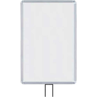 """Lavi Industries, Vertical Fixed Sign Frame, 50-1134F7V/SA, 14"""" x 22"""", For 7' Posts, Satin"""