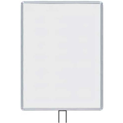 """Lavi Industries, Vertical Fixed Sign Frame, 50-1136F12V/SA, 22"""" x 28"""", For 13' Posts, Satin"""