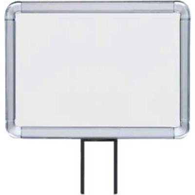 "Lavi Industries, Horizontal Fixed Sign Frame, 50-1141F12H/CL, 8.5"" x 11"", Unslotted, Chrome"