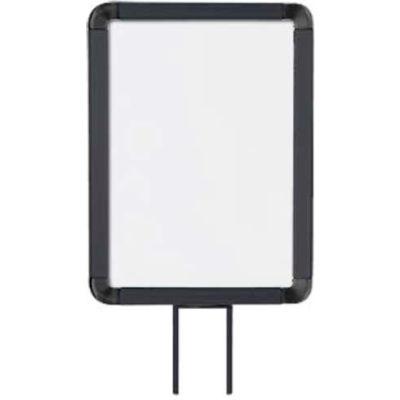"""Lavi Industries, Vertical Fixed Sign Frame, 50-1141F12V/MB, 8.5"""" x 11"""", For 13' Posts, Matte Black"""