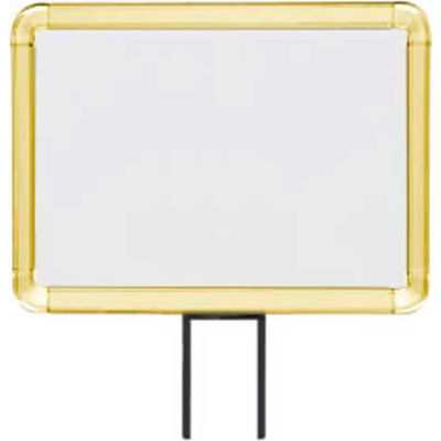 """Lavi Industries, Horizontal Fixed Sign Frame, 50-1141F7H-S/GD, 8.5"""" x 11"""", Slotted, Gold"""