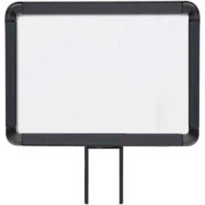 """Lavi Industries, Horizontal Fixed Sign Frame, 50-1141F7H-S/MB, 8.5"""" x 11"""", Slotted, Matte Black"""
