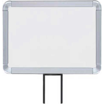 """Lavi Industries, Horizontal Fixed Sign Frame, 50-1141F7H-S/SA, 8.5"""" x 11"""", Unslotted, Satin"""