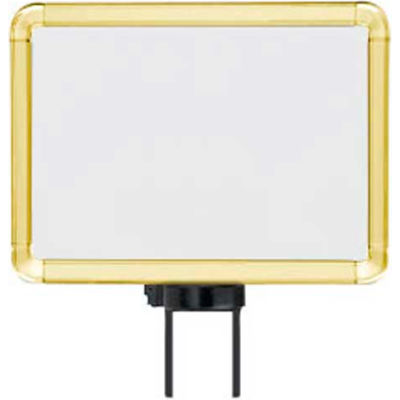"""Lavi Industries, Horizontal Fixed Sign Frame, 50-1141SH/GD, 8.5"""" x 11"""", Unslotted, Gold"""