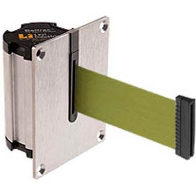 Lavi Industries Beltrac Concealed Mount Wall Unit, 7'L Olive Green Retractable Belt