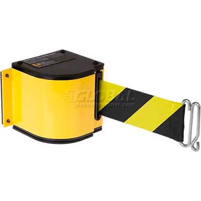 Lavi Industries Warehouse Retractable Belt Barrier, Adj. Mount, Yellow Case W/18' Black/Yellow Belt