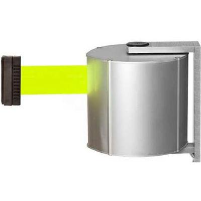 Lavi Industries JetTrac Wall-mount, 65'L Fluorescent Yellow Retractable Belt, Standard Hook