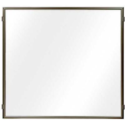"Lavi Industries, Hinged Frame Sign Panel/Barrier, 50-HFP1005/MB/CL, 48"" x 48"", Satin Aluminum"