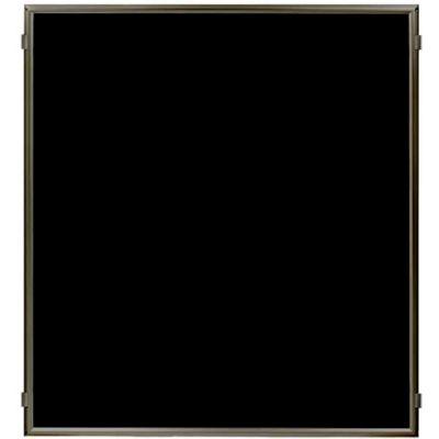 """Lavi Industries, Hinged Frame Sign Panel/Barrier, 50-HFP1006/MB/BK, 50"""" x 60"""", Matte Black"""