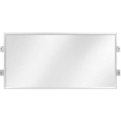 "Lavi Industries, Slim Frame with Hinged Connection, 50-SFP402H/CL/SA, 48"" x 24"", Satin Aluminum"