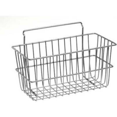 "Lavi Industries, Grid Wall Large Basket, 809326/CL, 24"" x 12"" x 4"", Chrome"