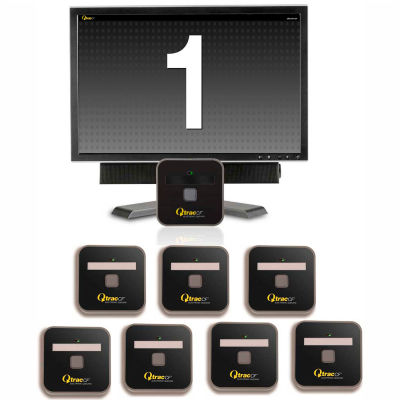 """QtracCF® Plug and Play, 32"""" LCD Black & White Display, 8 Remotes"""
