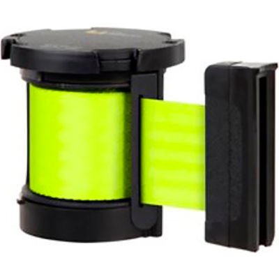Lavi Industries Replacement Mechanism, For Use W/Beltrac Stanchions, 13'L Fluorescent Yellow Belt