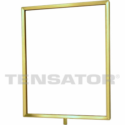 "Tensator Sign Frame Post Rope 11X14"" Polished Brass"