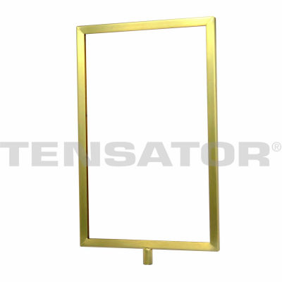 "Tensator Sign Frame Post Rope Stanchion Post 11X14"" Satin Brass"