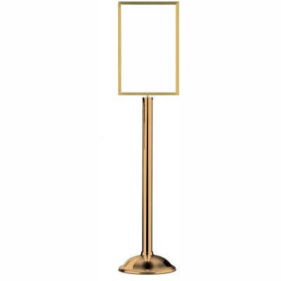 "Tensator Sign Frame Stand Traditional Base 14X22"" Polished Brass"