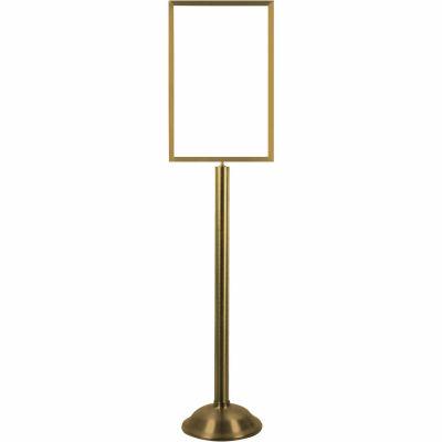 "Tensator Sign Frame Stand Traditional Base 14X22"" Satin Brass"
