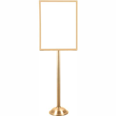 "Tensator Sign Frame Stand Traditional Base 22X28"" Satin Brass"