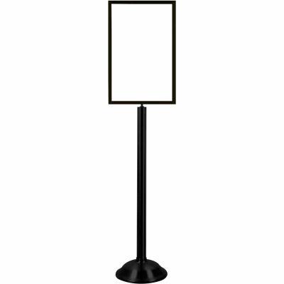 "Tensator Sign Frame Stand Traditional Base 14X22"" Black"