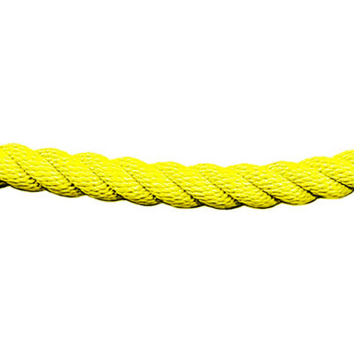 Tensator Twisted Rope Yellow 1' No Ends