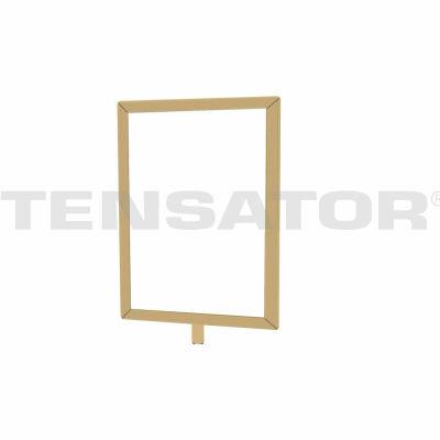 "Tensator Sign Frame Post Rope 7X11"" Polished Brass"